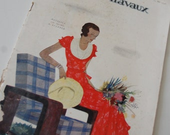 Vintage Fashion Magazine French 1930's Modes et Travaux no. 298 Sewing and Knitting