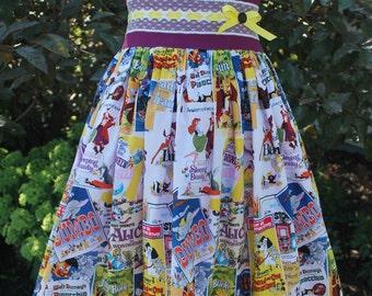 Disney Dress, Mickey Mouse Dress, Classic Disney Dress, Disney Vacation Dress, Disney World Dress, Birthday Dress, Handmade Girls dress,
