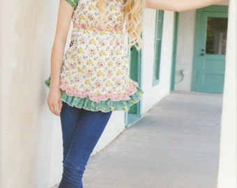 Flower Child Peasant Top Pattern for Tweens & Teens by Pink Fig Patterns (PFP27)