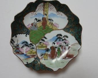Magnificent Vintage Japanese Octagonal Ornate Kutani Dish/wall decoration