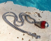 Red coral Tibetan-style necklace