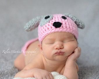 Newborn Puppy Set - Newborn  - Crochet - Photography Prop