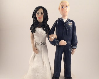 Polymer Clay Custom Wedding Cake Topper, Clay Couple Cake Topper, Custom Wedding Figurine, Clay Couple Sculpture
