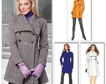 Butterick B5685 Misses' Double-Breasted Jacket and Coat Sewing Pattern