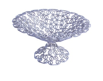 Vintage fruit bowl wire handmade galvanised kitchen dining table home decor steel decoration