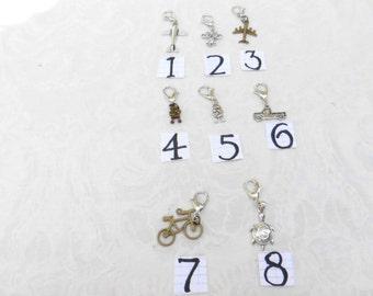 Zipper Pulls / 8 Styles / Listing for 1 / men's jewelry / teen jewelry / boys jewelry / women's jewelry / girls / accessories / jewelry