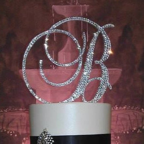 swarovski crystal monogram wedding cake toppers gorgeous swarovski monogram wedding cake toppers 20675