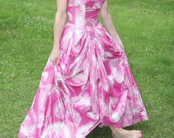 Vintage Lanvin stunning taffeta dress - RARE A Collectors piece