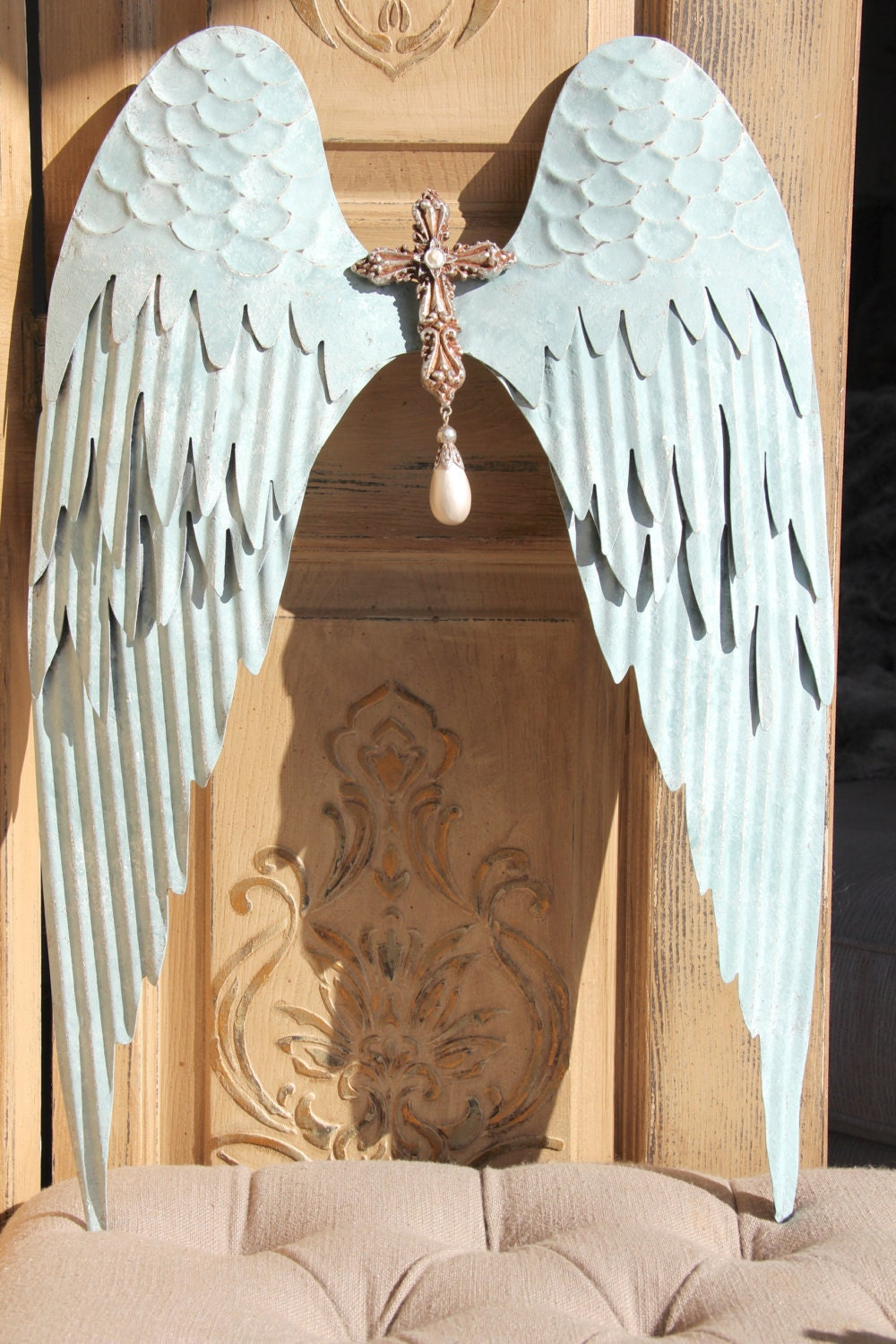 Wall Art Angel Wings : Angel wings wall decor altered