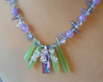 Amethyst and Chalcedony Necklace