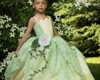 Tiana Costume Princess and The Frog Gown Tutu Dress