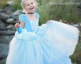 HALLOWEEN DELIVERY W/RUSH_PURCHASE Cinderella Costume Classic Princess Gown Tutu Dress