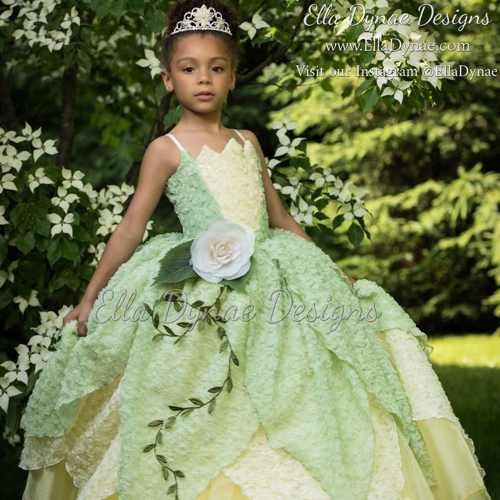 Princess Tiana Outfit: Tiana Costume Princess And The Frog Gown Tutu Dress