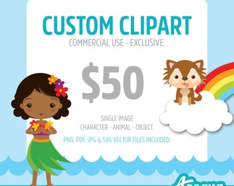 Custom Clipart - Commercial Use - Exclusive - PNG, JPG, PDF & Vector files included.