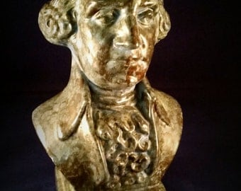 Stately Ceramic Bust of Political Figure
