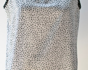 Black and White Vintage Patterned Tank