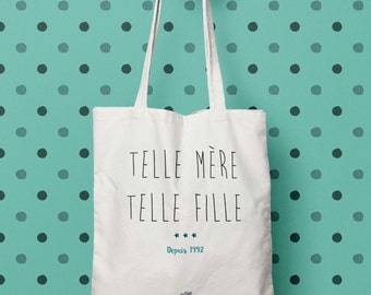 such mother like daughter, mothers day, MOM, personalized, gift bag, tote bag, Tote, bag canvas, cotton bag, handbag bag