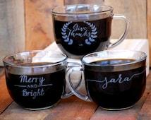 Custom Coffee Shop Mugs, Coworker Gift, Coffee Bar, Custom Wedding Favors, Corporate Gifts, Love Is Brewing, Hot Chocolate Bar, Coffee Mug
