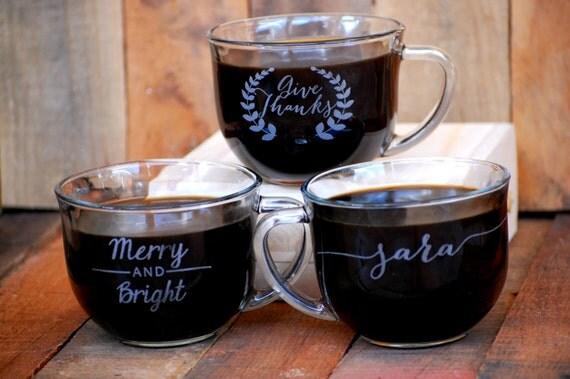 Custom Coffee Shop Mugs, Coworker Gift, Coffee Bar, Custom Wedding ...