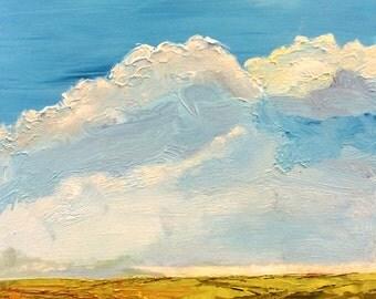 Cloudbank, Original Painting by James Bohling, 12'' x 12'' x 2''