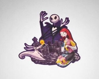 Nightmare Before Christmas: Jack, Sally, & Zero Iron-On Patch - Limited Stock