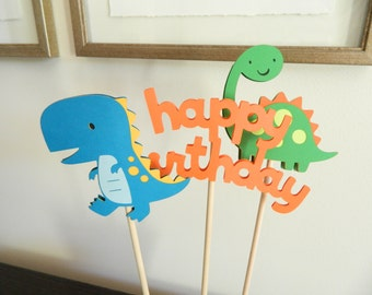 3 Dinosaur Centerpiece Sticks, Dinosaur Table Decor, Dinosaur Birthday Party