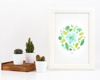 A Vibrant Garden Print
