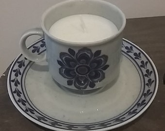 teacup candle geometric design