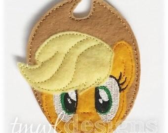 "Apple Pony Head Feltie Digital Design File - 1.75"""
