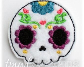 """Sugar Skull Hearts Feltie Digital Design File - 1.75"""""""