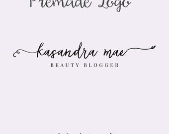 Elegant Logo, Signature Logo, Beauty Blog Logo, Photography Logo, Premade Logo, Watermark Logo, Premade Typography Logo, Fashion Blog Logo