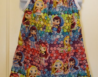 Little Charmers Girls Dress, Girls Pillowcase Dress, Made To Order Size 6m, 9m, 12-18m, 18-24m, and Size 2 to 8, Posie, Hazel