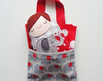 Russian Doll Plush Toy Sleep Over Pal, Babushka Interactive Children's Toy, Matryoshka Plushie, Elephant Toy