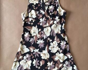 1990s floral mini dress / super mini baby doll dress / SXS