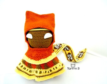 Journey Sackboy Amigurumi - Crochet doll -  Made to Order - FREE SHIPPING US