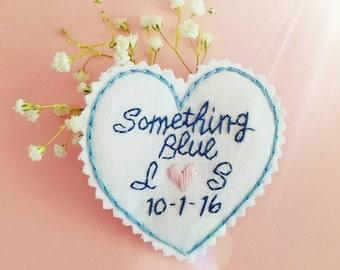 Something Blue. Wedding Dress Label. Bridal Shower Gift. Wedding Dress Patch. Gift for Bride. Bridal Shower. Wedding. Monogram Dress Label.