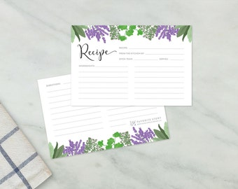 Herb Recipe Cards, Set of 10