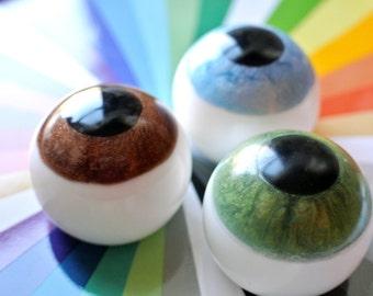 2 Eyeball Soap / Eye Soap - A Perfect Halloween Gift or an Optometrist Gift