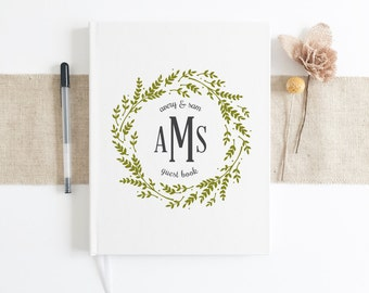 Custom Monogramed Wedding Guestbook. Wedding Guest Book. Personalized Wedding gift. Guest Book custom. Wedding Keepsake