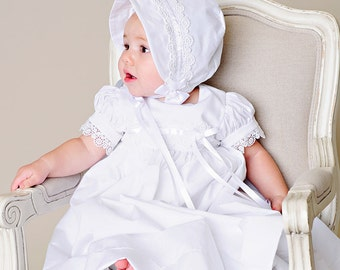 Christening Gown Baby Girl Christening Dress Baptism Dress or Blessing - Eden