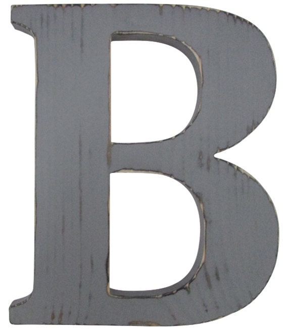 The Letter B Wall Decor : Letter b rustic wall decor gallery wood sign