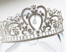 Bridal Tiara Crown, Bridal Crown, Rhinestone Tiara, Crystal Tiara, Bridal Comb Tiara, Bridal Hair Accessories, Bridal Jewelry