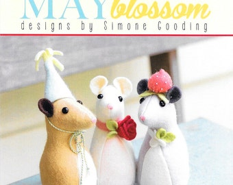 Pattern ''Pickle Mouse'' Dolls, Stuffed Toy, Fabric Soft Sculpture Sewing Pattern by May Blossom (MB032)