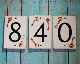 Handmade Ceramic House Numbers, Key Theme Numbers, Dog House Numbers, Apartment Numbers, Office Numbers, Ceramic Numbers, Wedding Table