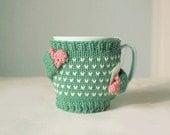 Heart Mug Sweater, in Mint Green