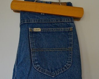 Vintage Flannel Lined Jeans by L.L. Bean Size 30x28.5