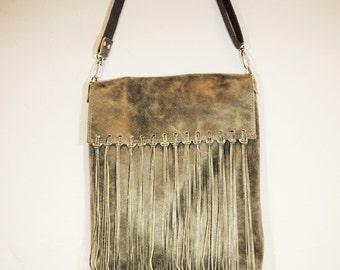 Leather bag boho
