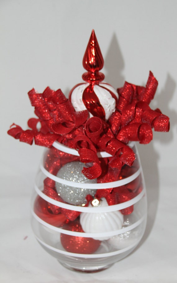Christmas centerpiece centerpieces candy cane striped