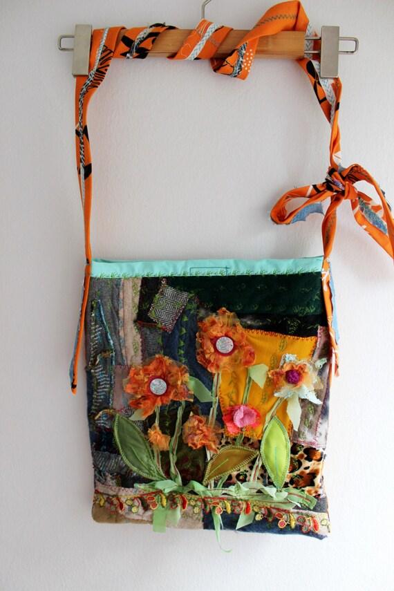 Denim Bag Cross Bag Boho Cross Bag Handmade Denim Bag