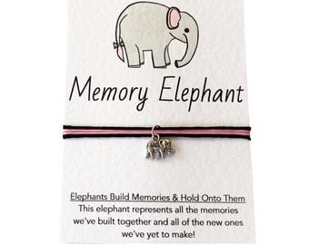Friendship Bracelet, Silver Elephant Charm Bracelet. Best Friend Bracelet, BFF Gift. Custom Bracelket. Personalised Bracelet. Party Favour!